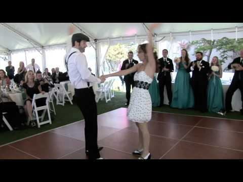Shaun & Shannon's surprise wedding swing dance