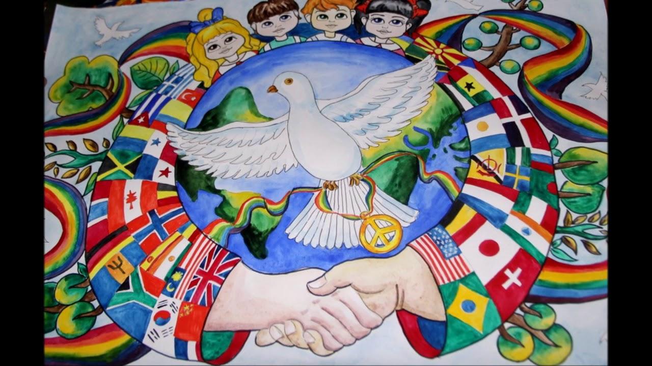 Картинки дети за мир против войны