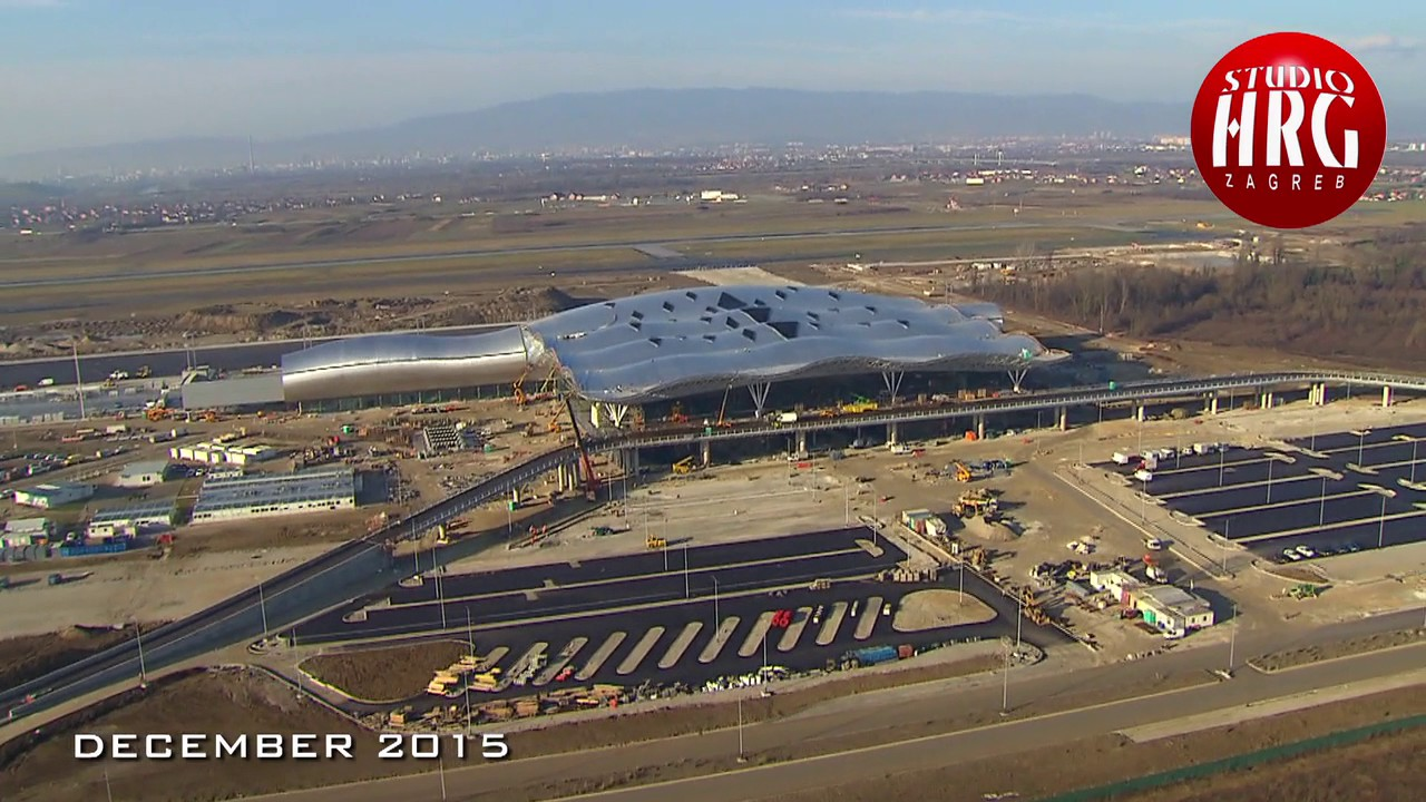Monitoring The Construction Of The New Passenger Terminal At Zagreb Airport Sa Logom Youtube