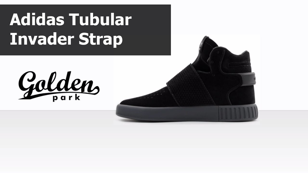 sleek sneakers for cheap official photos Обзор Adidas Tubular Invader Strap Core Black, адидас тубулар