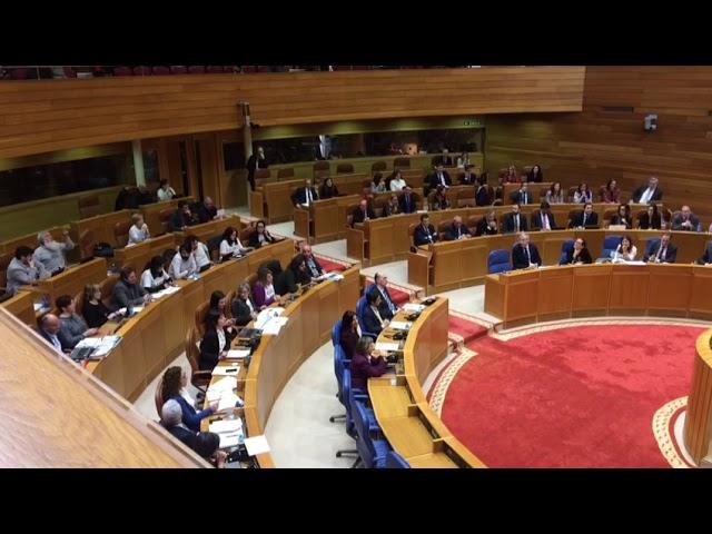 Enfrentamiento entre el diputado del BNG Mini y Feijóo en el Parlamento