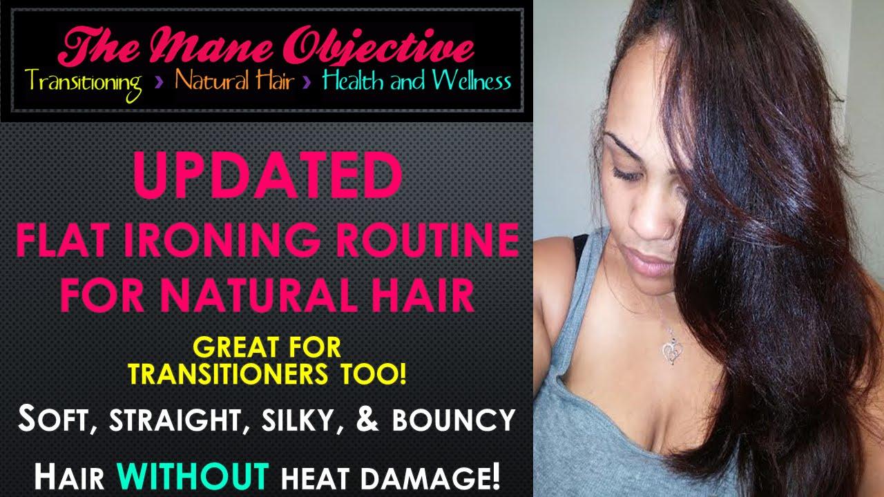 2014 Updated Flat Ironing Routine Sleek Straight Natural Hair Without Heat Damage