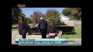Man builds oval office at home -November 21,2013 - BONTV China