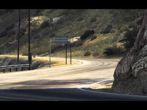 High-speed race along the big sur in California on McLaren P1.In the form of a broadcast