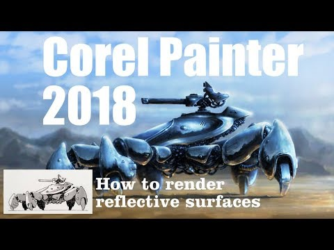 Painting Process - How to render reflective surfaces - Corel Painter 2018