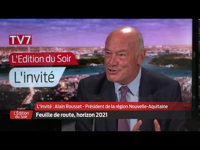L'Édition du Soir | L'invité | Alain Rousset, président de la région Nouvelle -Aquitaine