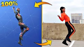 ALL FORTNITE BAILES IN REAL LIFE (FORTNITE DANCES) Makigames