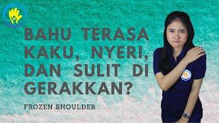 Pasien sakit bahu / cedera bahu / frozen shoulder, sudah bertahun2 nyeri / sakit bila digerakan dan .