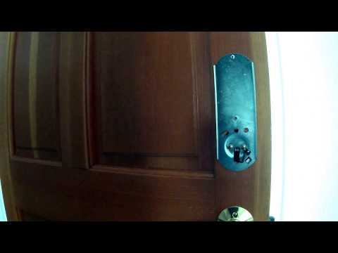 Schlage Keypad Lock Installation