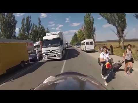 Donětsko - Ukrajina, sestřih cesty od hranic do města