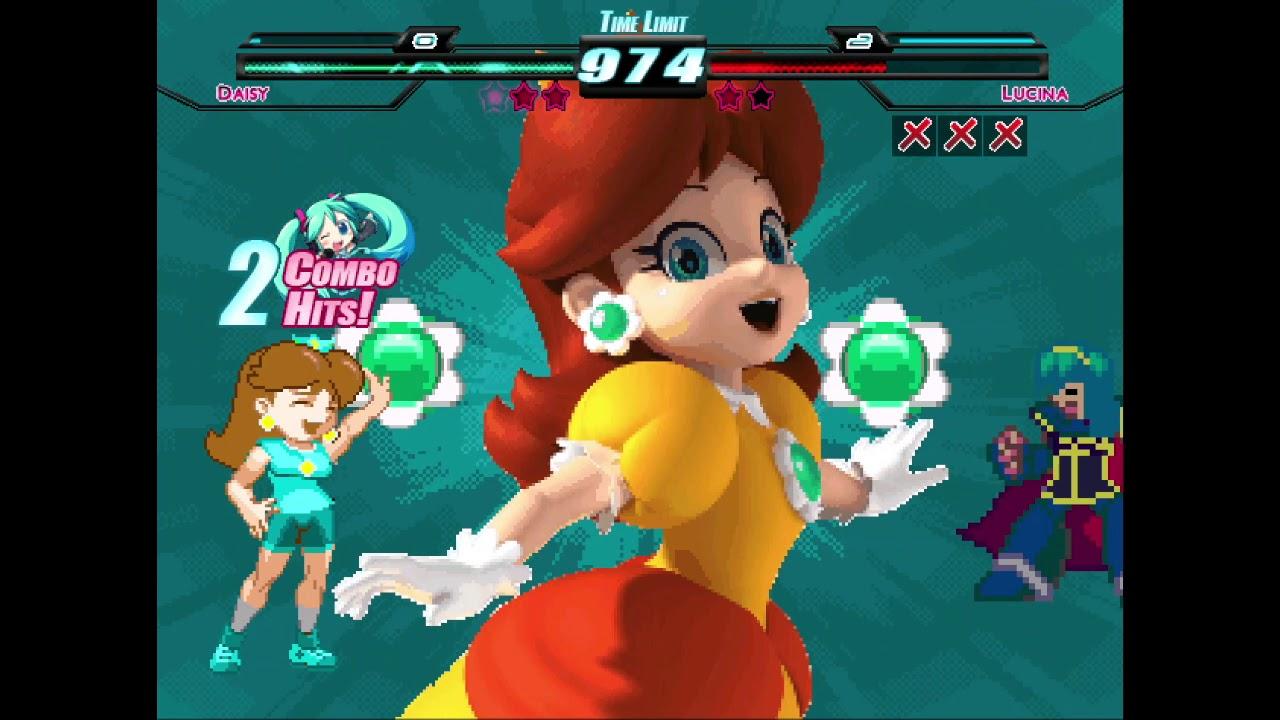 Download M.U.G.E.N. Aimless Battles - Princess Daisy (me) vs. Team SSBB Peach