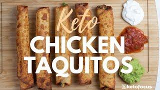 KETO TAQUITOS   BUDGET KETO FOOD   Easy Keto Recipe using Rotisserie Chicken   PART 2
