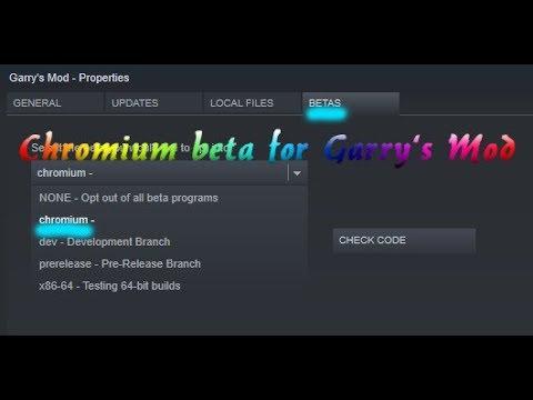 How to activate Chromium for Gmod? | Quick 1 Minute Tutorial | marvo23