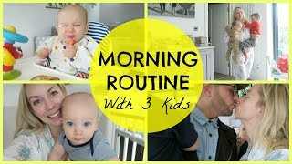 Spring morning routine with 3 kids