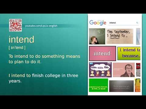 Intend : B1 level english vocabulary lesson, www.LipLix.com