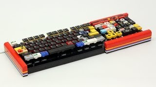 Working LEGO Computer Keyboard(This is my latest project, a working computer keyboard custom built using LEGO pieces. The internal sensor pad and circuit board were taken from an old ..., 2014-03-06T16:58:36.000Z)
