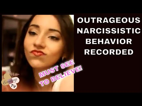 Female Sociopath -Shocking Display of Overt Female Narcissist Seducing herself Caught on Camera