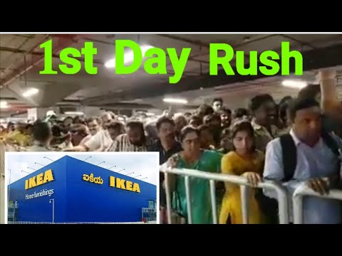 IKEA Hyderabad first day rush | Mind-blowing rush and traffic at IKEA