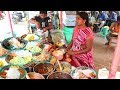 Aunty Selling Best Street Food Hyderabad | Chicken @ 80 Rs | Veg Rice 50 Rs only | Amazing Food Zone