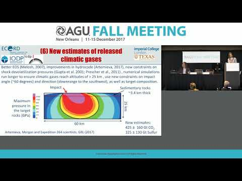 2017 Fall Meeting Press Conference: The IODP-ICDP Chicxulub impact crater drilling expedition