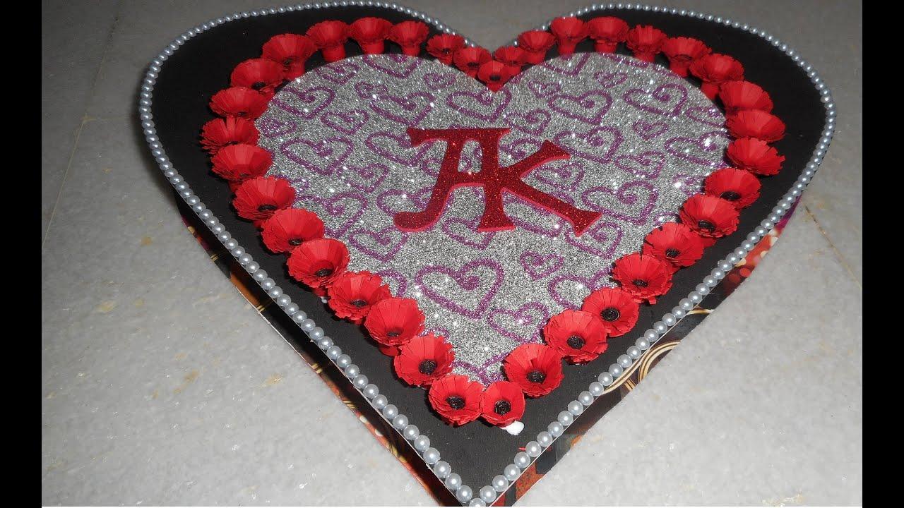 Heart shaped box card for Boyfriend  part 3  YouTube