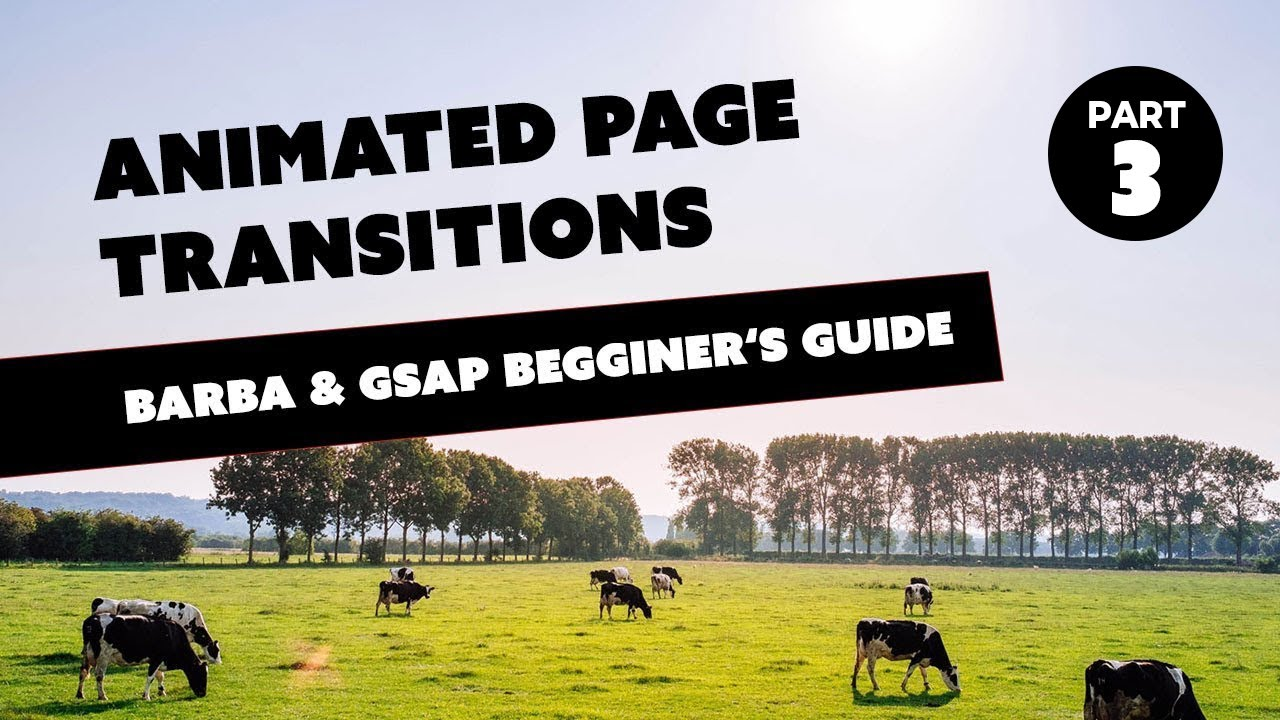 Animated Page Transition Tutorial - using Barba js and GSAP - Part 3