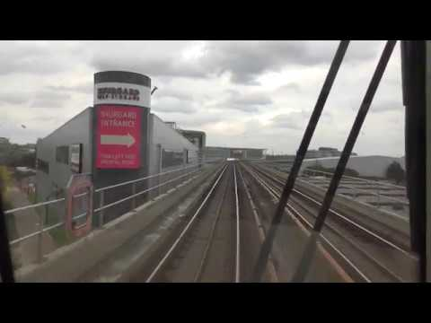 Full Journey On The DLR From Stratford International To Woolwich Arsenal Via London City Airport