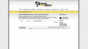 Anonyme Email erstellen - TechnikObst65