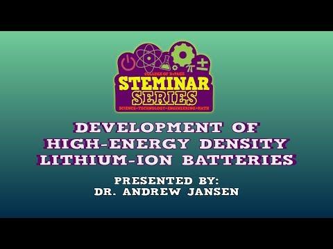 STEMinar Series: Development of High-Energy Density Lithium-ion Batteries