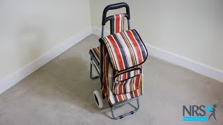 Single Wheeled Leisure Shopping Trolley With Fold Down Seat Review