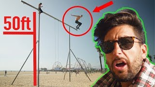 HE JUMPED!! VERY DANGEROUS DO NOT ATTEMPT!