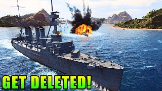 GET DELETED! - World of Warships Live Gameplay