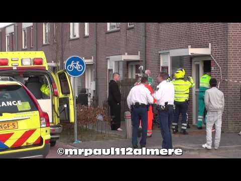 EXPLOSION NEAR HOUSE: Mobile Medical Team Amsterdam, Ambulance and Police