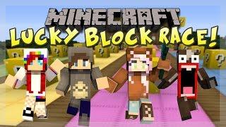Minecraft Lucky Block Race: I'M VERY UNLUCKY! w/ Phoenixgg, Zesty Mike & Scott!
