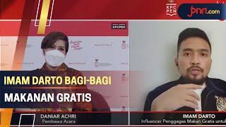 Imam Darto Bagi-Bagi Makanan Gratis untuk Pasien Isoman Covid-19