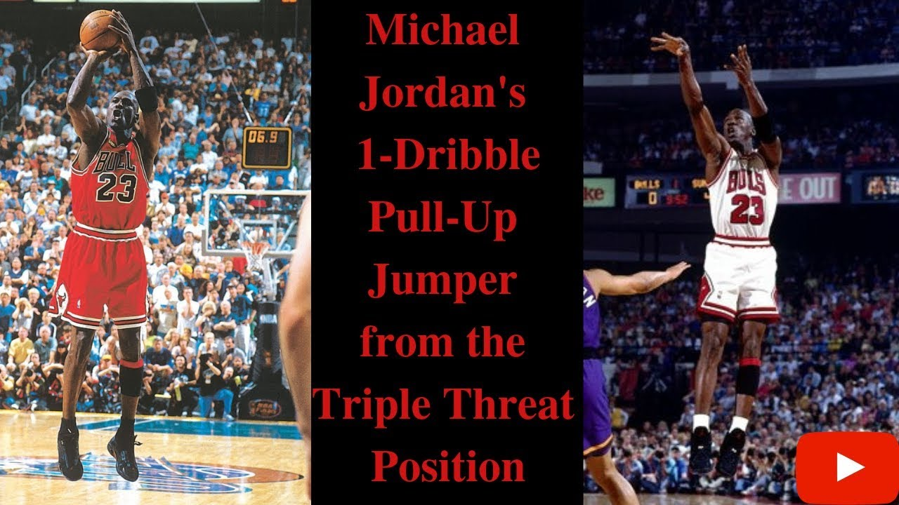 Plantando árboles Estado Síguenos  Michael Jordan's 1-Dribble Pull Up Jumper from the Triple Threat Position -  YouTube
