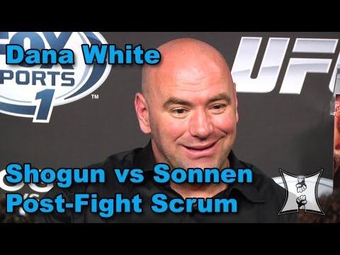 Dana White Says Uriah Hall Is Not A Fighter, Praises McGregor, Talks Sonnen vs Belfort