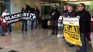 Skanska offices occupied over illegal blacklisting