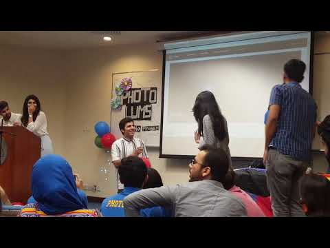 Boy proposing a girl on stage in Lums university lahore