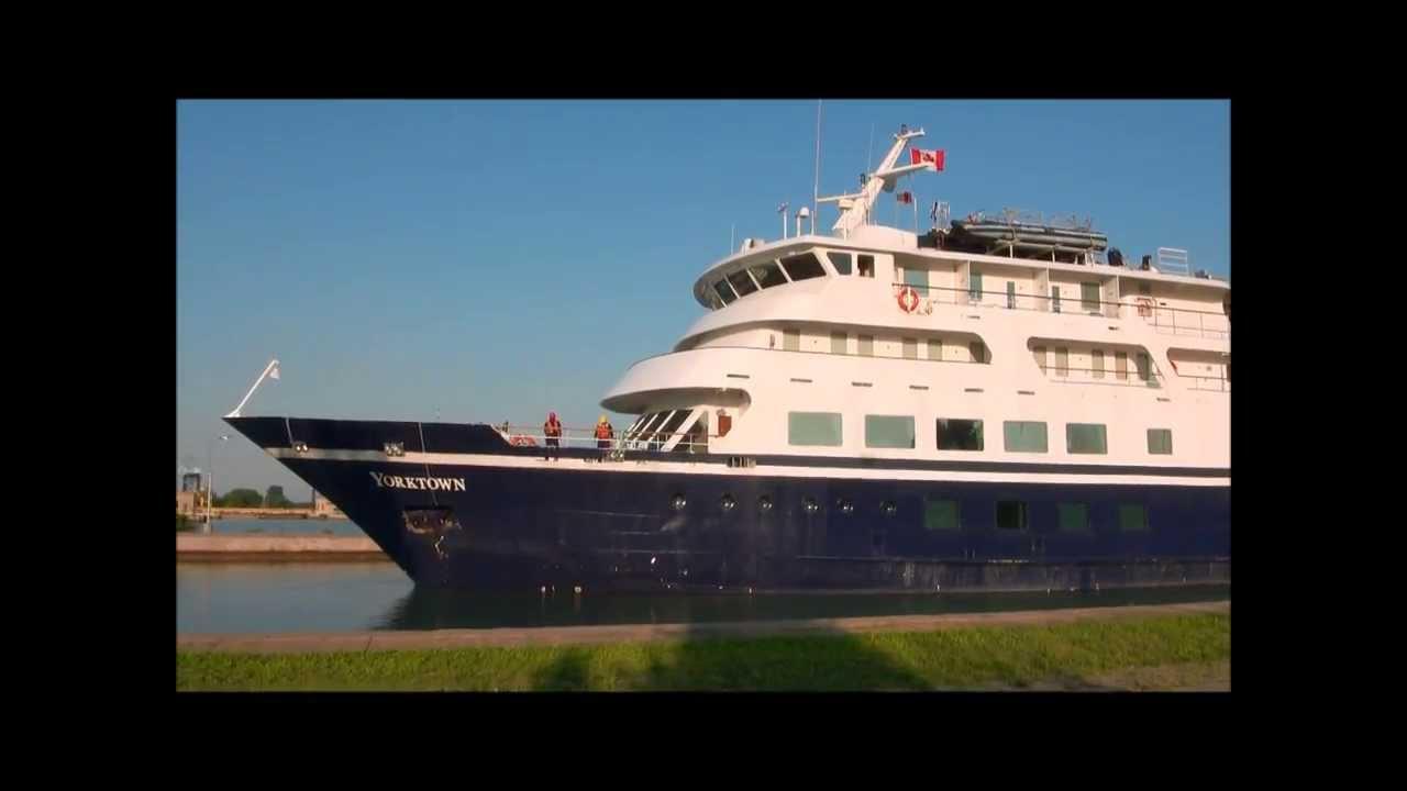 Cruise Ship YORKTOWN On Welland Canal YouTube - Cruise ship yorktown