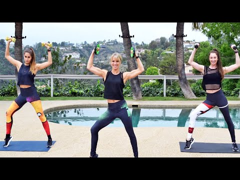 25 Min Workout with Weights | Full Body with Cardio Bursts