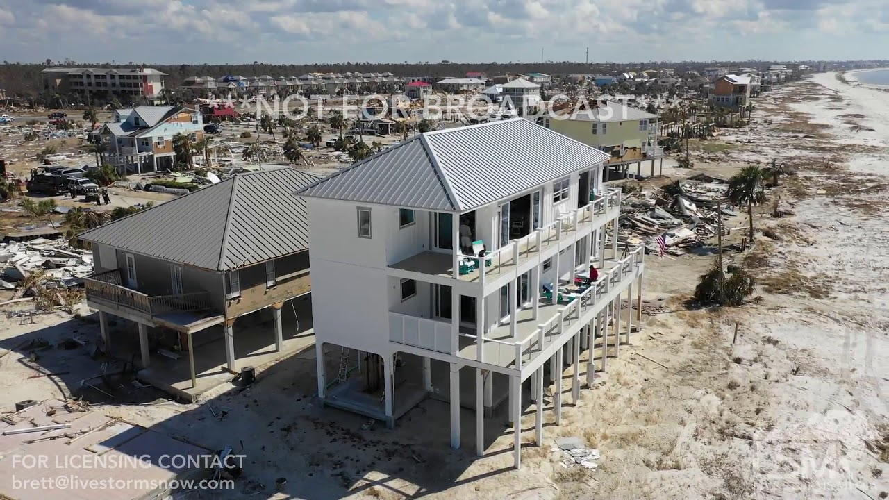 10 16 2018 Mexico Beach Fl Last Home Standing After Hurricane Michael