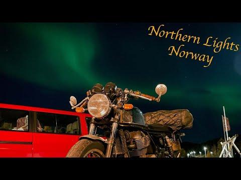 NORTHERN LIGHTS in Norway | Cafe Racer Adventure Series (Episode 5)