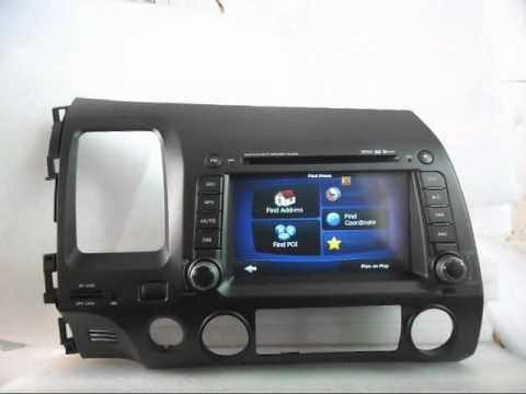 2007 Honda Civic Wiring Diagram 2001 Chevy Impala Fuse Box Dvd Navigation Tv, 2005-2009 Player With Gps Bluetooth - Youtube