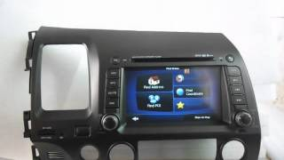 Honda Civic DVD Navigation TV, 2005-2009 Honda Civic DVD Player with GPS Bluetooth