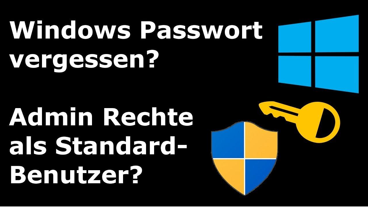 Benutzer Passwort Vergessen Windows 7