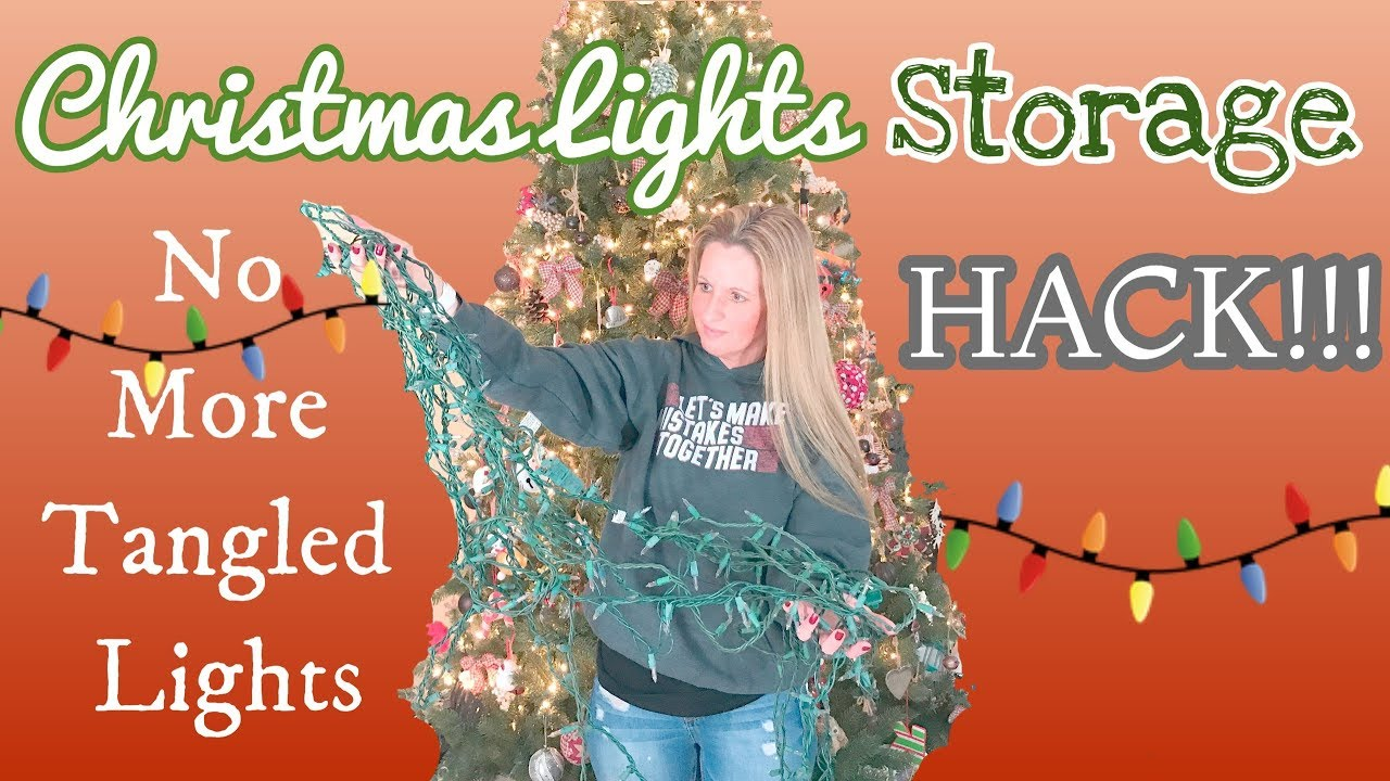 christmas lights storage hack easy storage
