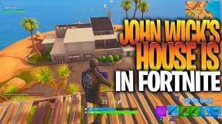 John Wick's House Was Added To Fortnite With A SECRET Movie Easter Egg! (New John Wick Back Bling)