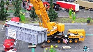 RC mobil crane Demag AC 300 Franz Bracht loading Trojan Transport Trucks