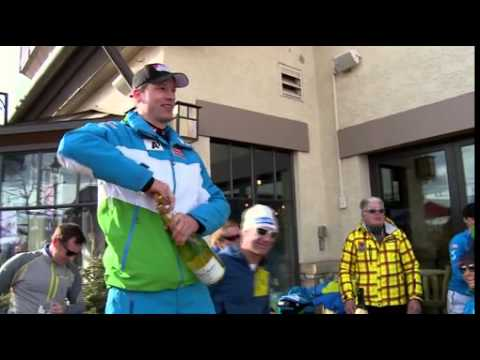 Hannes Reichelt feiert WM Titel in der Arlberg Lounge - ANHÄNGE/VIDEO